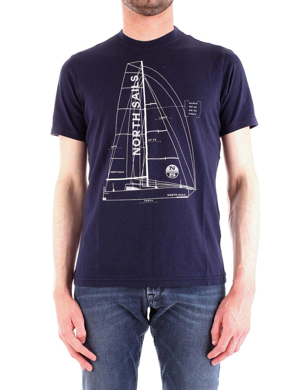 North Sails Luxury mode Homme 692172bleuNAVY Bleu T-Shirt   Printemps été 19