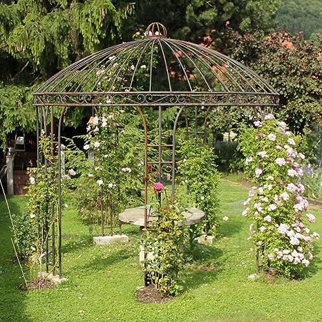 Hierro Carpa Pabellón Jardín Rose Cenador de metal Cenador (300 cm: Amazon.es: Jardín