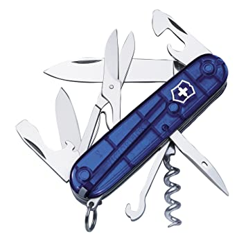 c218985f7 Victorinox - Navaja Suiza Multiusos, Color Rojo Mate Azul Azul Talla:Talla  única: Amazon.es: Deportes y aire libre