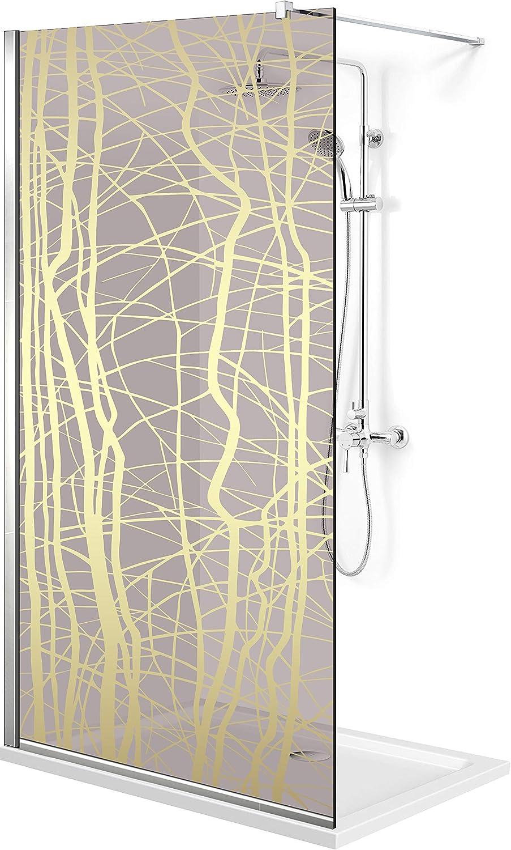 Modern Glass Art Leroy Timeless Manhattan - Mampara de ducha (8 mm, cristal templado de seguridad, nano, acero inoxidable SS304), dorado: Amazon.es: Bricolaje y herramientas
