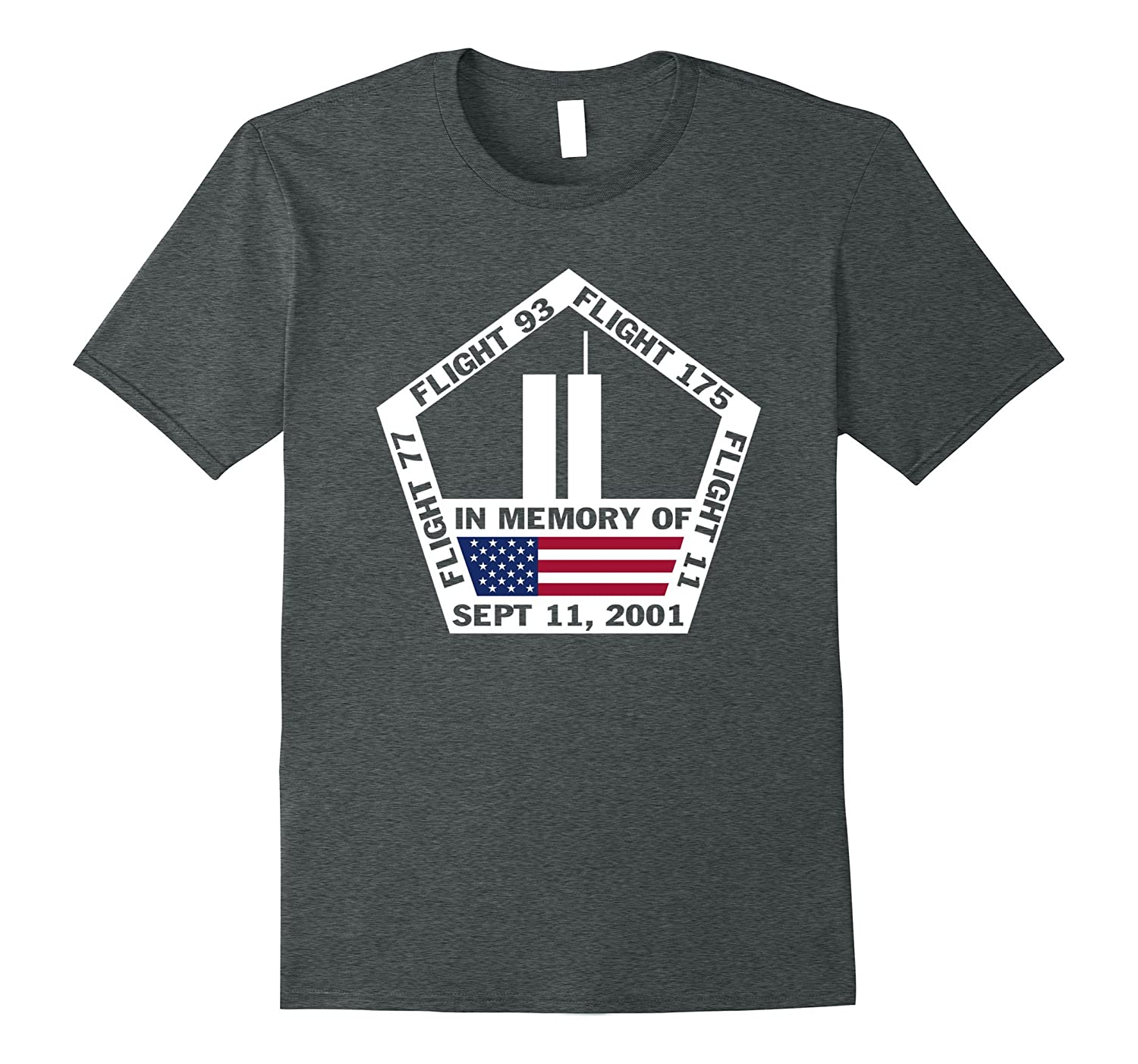 9/11 2001 Memorial We Will Never Forget American Flag Tshirt-TH