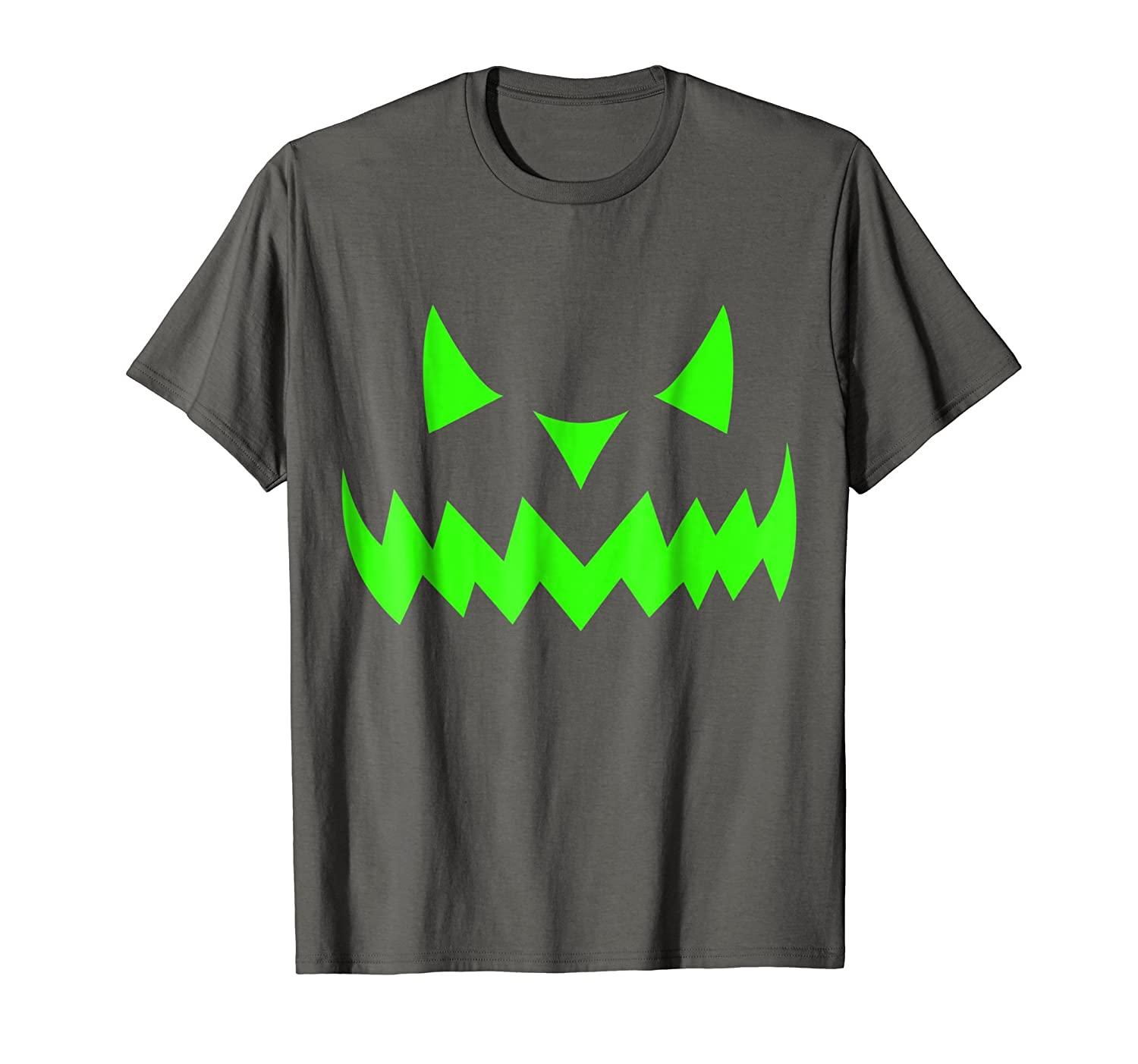 Scary Face Halloween T-Shirt | Neon Green Acid Glow-Rose