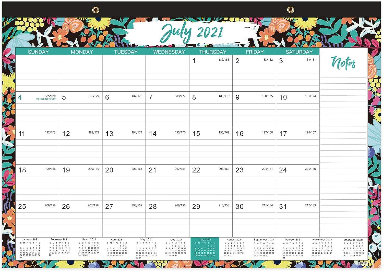 2021-2022 Desk Calendar - 18 Monthly Desk/Wall Calendar, 17