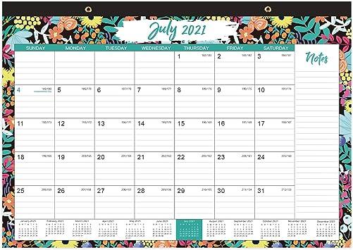 Amazon Com 2021 2022 Desk Calendar 18 Monthly Desk Wall Calendar 17 X 12 Jul 2021 Dec 2022 Academic Desk Calendar With Corner Protectors Tear Off Easily Ruled Blocks Easy Planning Black Flower Office Products