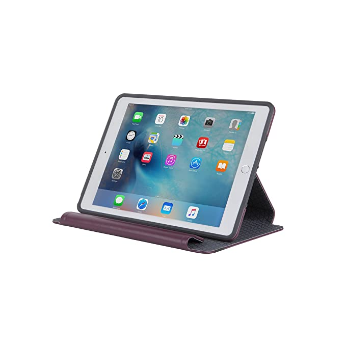 best service 6ddd5 83738 Otterbox SYMMETRY SERIES FOLIO Case for iPad Air 2 - Retail Packaging -  MERLOT SHADOW (MERLOT/GREY)