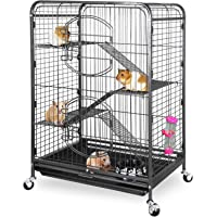 ZENY 37″ Ferret Cage Rabbit Guinea Pig Chinchilla Small Animal House 4 Levels (Black)