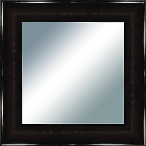 PTM Images 5-0600 Estefano Espresso Mirror Wall Art, 19.75 by 19.75 -Inch
