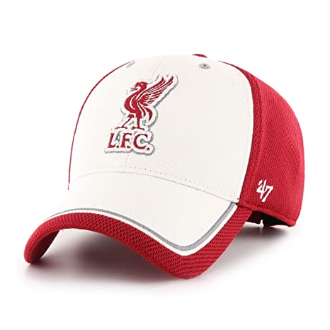 2ece29152496b Liverpool FC Heavy Twill and PK Mesh Red and White Mens Cahill `47 MVP Cap  LFC Official Store