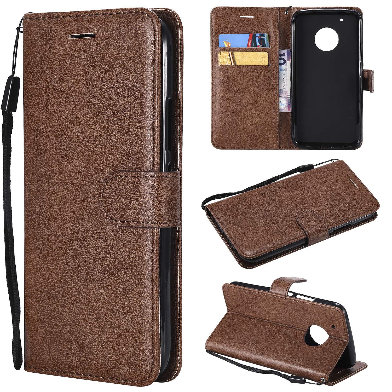 Moto G5 Plus Case, Moto G5 Plus Wallet Case, for Motorola Moto G5 Plus Premium Ultra Slim PU Leather Folio Flip Phone Protective Case Cover with Credit ID Card Slots Holder & Kickstand 2017,Black A-slim