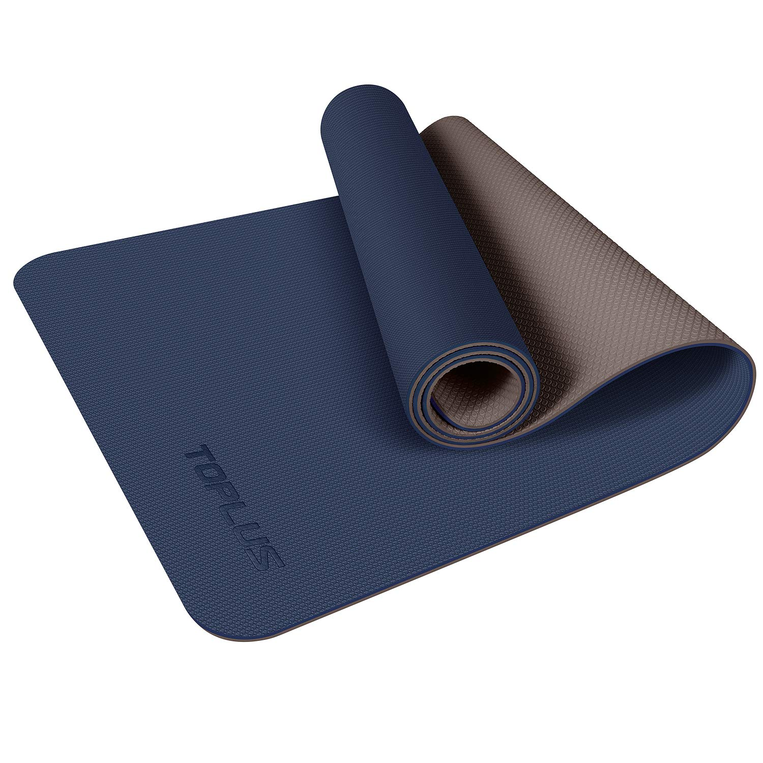 TOPLUS Yoga Mat, Non-Slip Yoga Mat Eco Friendly Exercise & Workout Mat with Carrying Strap - for Yoga, Pilates and Floor Exercises(1/4 inch-1/8 inch)