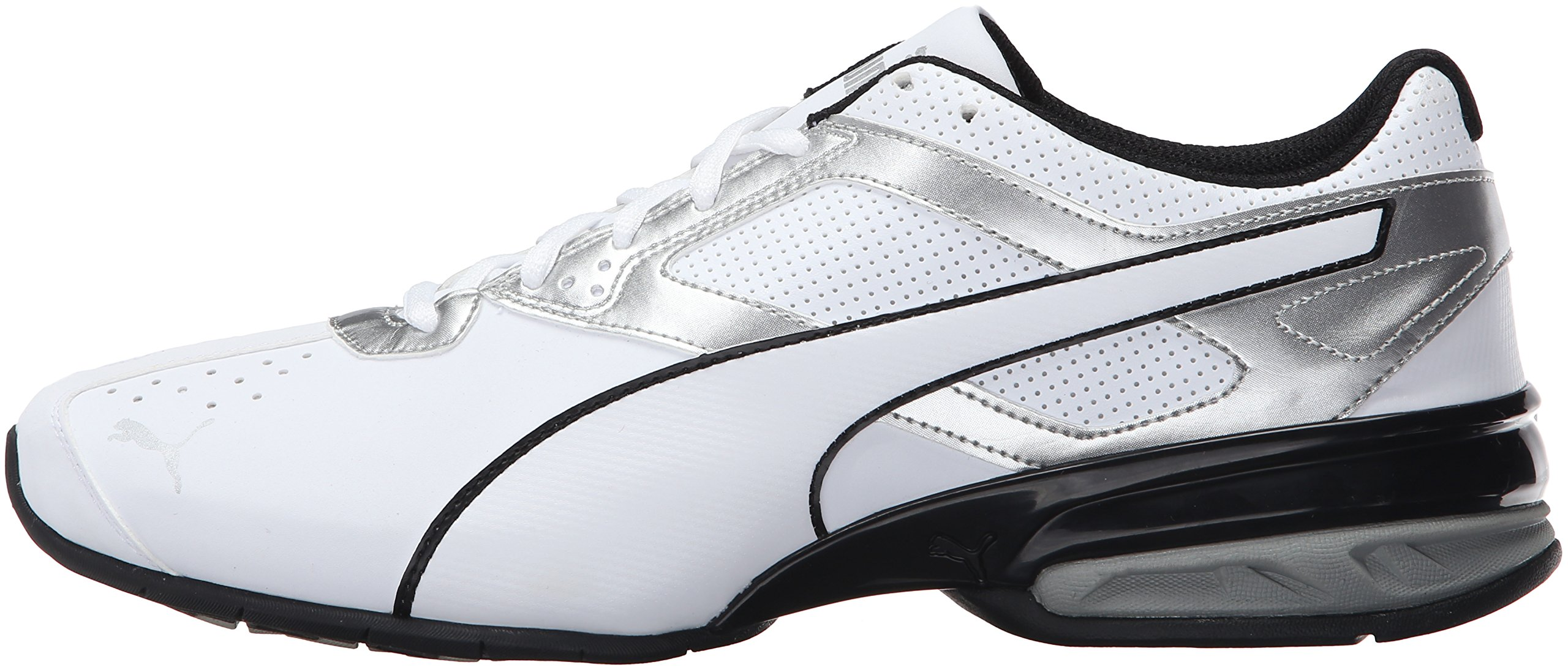 PUMA Men's Tazon 6 FM Puma White/ Puma Silver Running Shoe - 7.5 D(M) US by PUMA (Image #5)