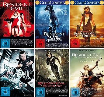 Resident Evil 1 6 Komplett Set Fsk 18 Deutsche Originalware 6 Dvds