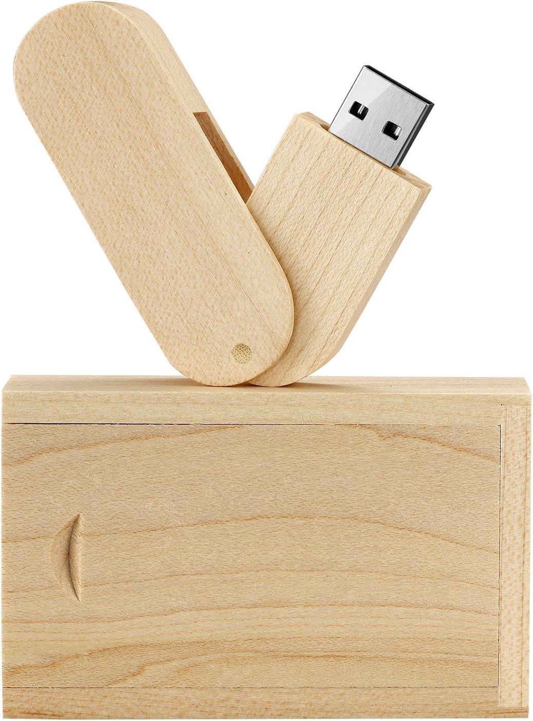 Leaders 16.0 GB Rotación Maciza Memoria USB Almacenamiento de Datos Flash USB 2.0 Memory Stick Pendrive con Caja de Madera: Amazon.es: Electrónica