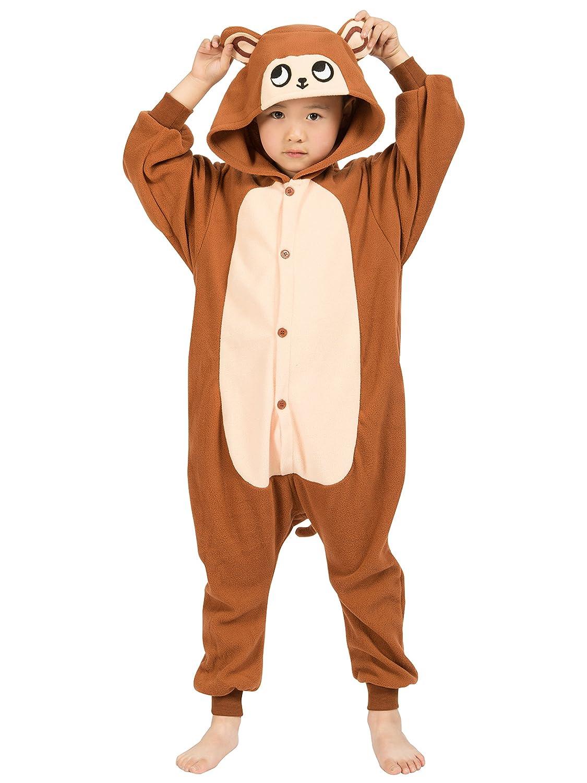 b99015713e Amazon.com  BELIFECOS Childrens Monkey Costumes Animal Onesies Homewear  Halloween Pajamas  Clothing