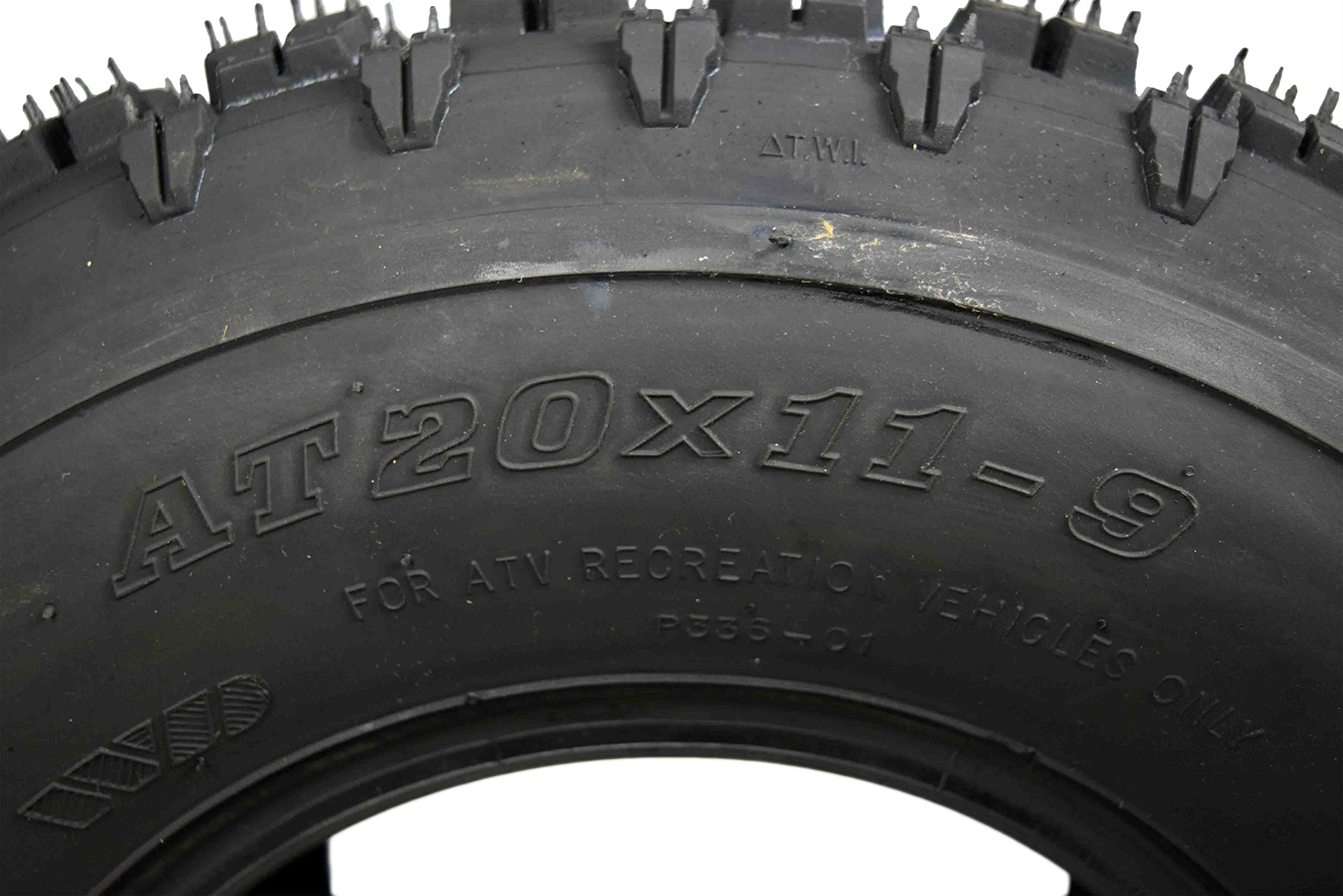 MASSFX 20'' Rear ATV Tire Set 20x11-9 Tire 4 PLY 20x11x9 MO20119 2 Pack by MASSFX (Image #2)