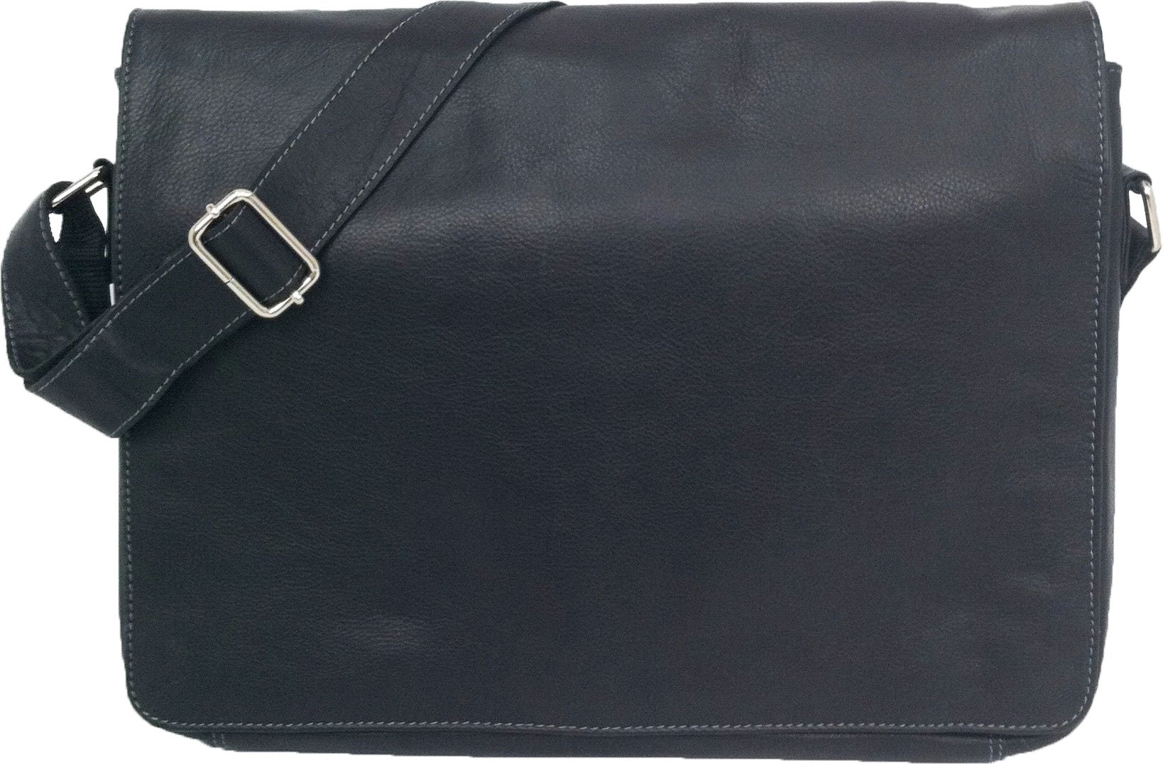 Unicorn Real Leather Black 16.4'' laptop bag Messenger #1L