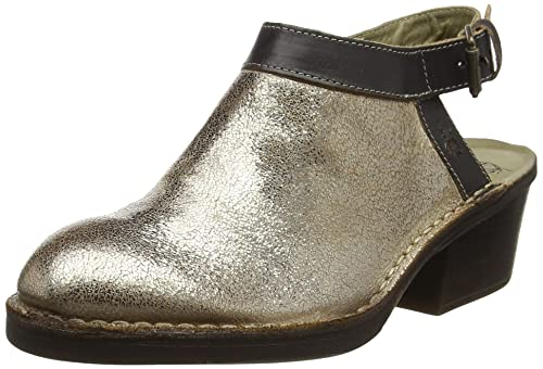 P210894010, Sandali Chiusi con Tacco Donna, Marrone (Brick/Tan 010), 40 EU FLY London