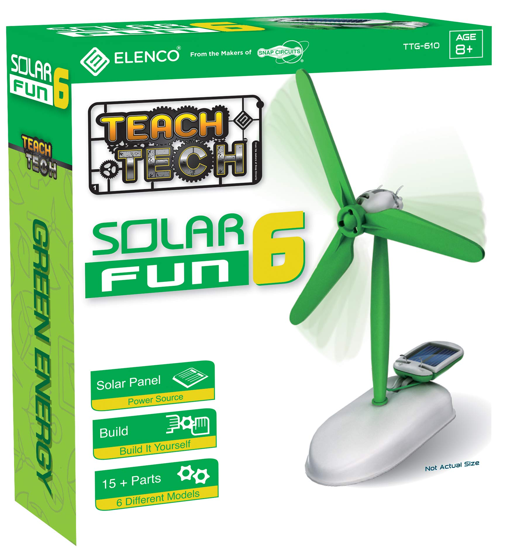 Elenco Teach Tech Solar Fun 6 | Build-It-Yourself 6-in-1 Solar Powered Robot | STEM Educational Toys for Kids 8+ by Elenco