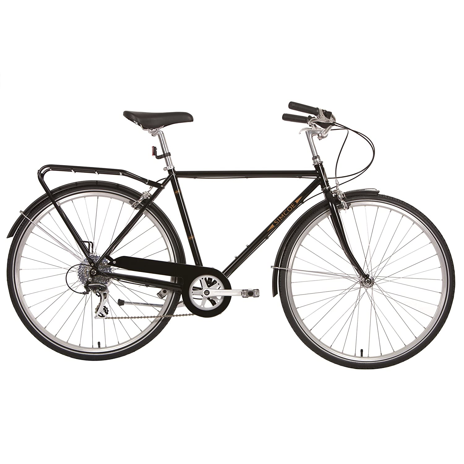 Simcoeロードスタークラシック8 Commuter / City Bikes – マットブラック B01F3Z5ECU Medium|Matte Black Matte Black Medium