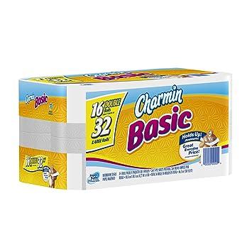 Amazon.com: Charmin Basic Toilet Paper 16 Double Rolls: Health ...