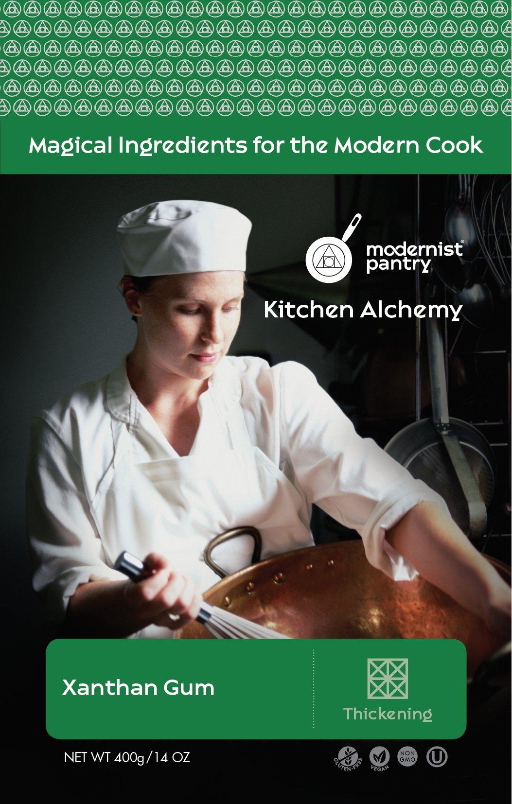 Food Grade Xanthan Gum (Molecular Gastronomy) ⊘ Non-GMO ❤ Gluten-Free ☮ Vegan ✡ OU Kosher Certified - 400g/14oz