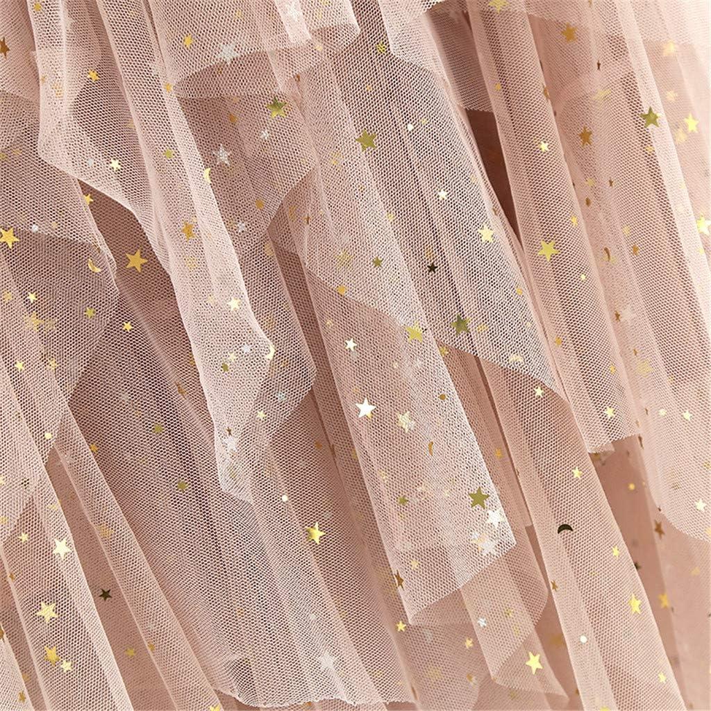 VEMOW Faldas Mujer c/ómoda de Tul de Cintura Alta Falda Plisada del tut/ú de Las se/ñoras Falda de Midi