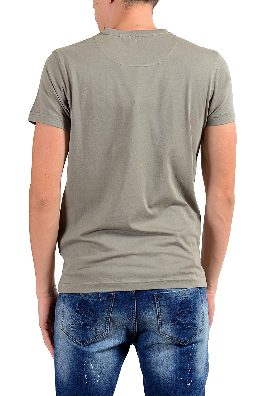 ROBERTO CAVALLI Mens Gray Graphic Fighting Crewneck T-Shirt Size US XL IT 54
