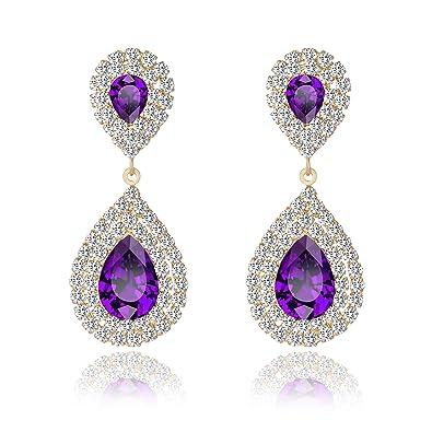 2018 High Quality 1 Pair Colorful Elegant Women Crystal Flower Colorful Drop Long Dangle Wedding Earrings Jewelry Nice Best Gift Jewelry & Accessories Drop Earrings