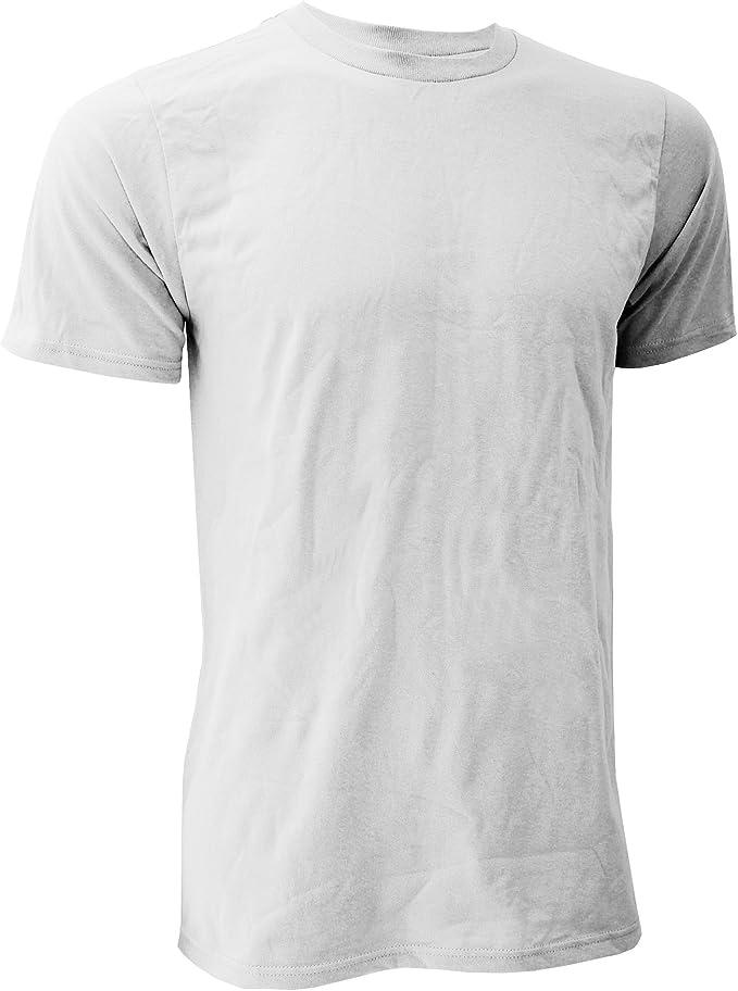 Anvil - Camiseta básica orgánica de Manga Corta para Hombre- 100 ...