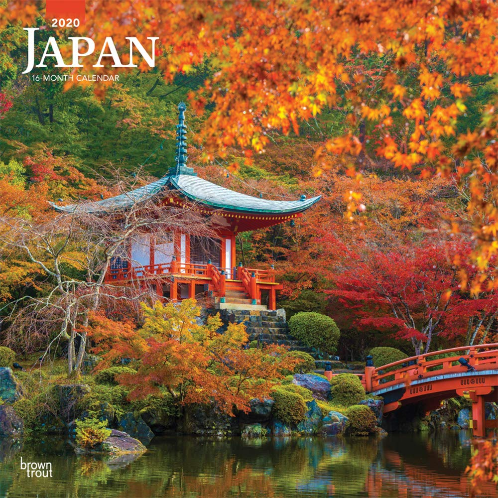 Japan 2020 12 x 12 Inch Monthly Square Wall Calendar, Scenic Travel Asia Cherry Blossoms Tokyo Kyoto Osaka