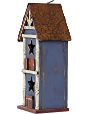 Glitzhome Wooden Patriotic Distressed Garden Bird House