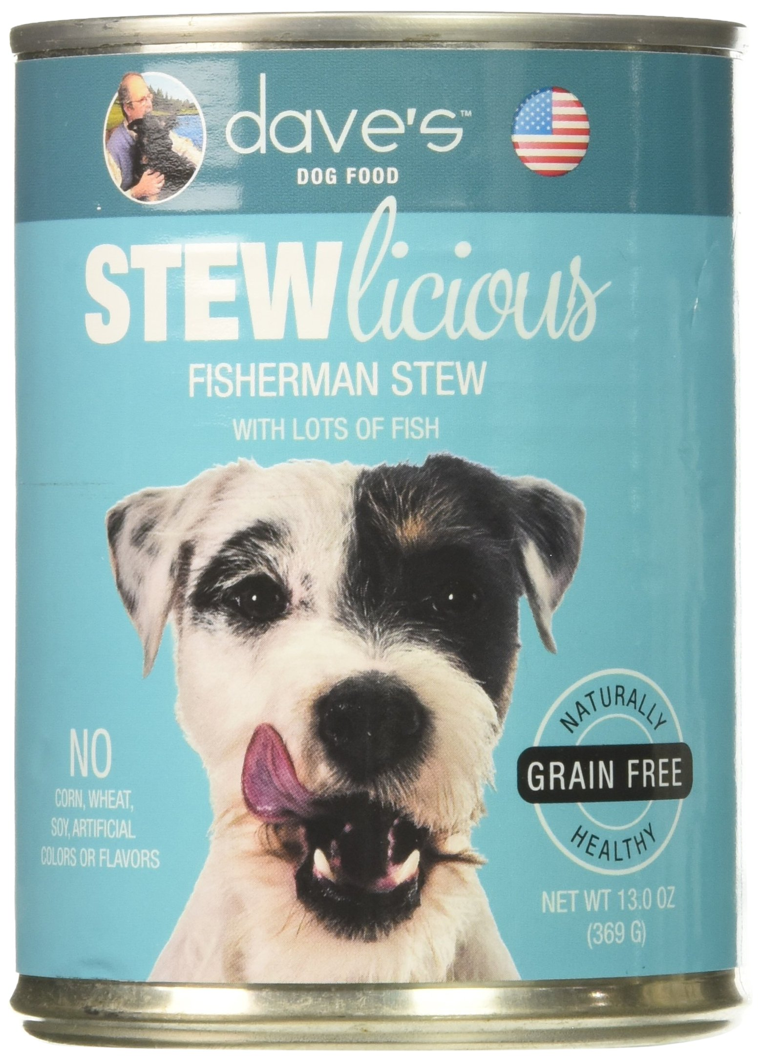 Dave's Stewlicious Fisherman Stew For Dogs, 13 oz Can (Case of 12)
