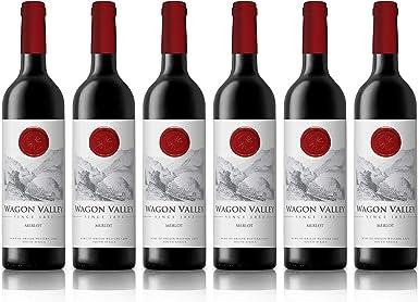 Wagon Valley - Vino tinto Merlot, añada 2018, 75 cl (caja de 6 botellas): Amazon.es: Alimentación y bebidas