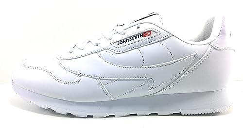 J.Smith Cresir Zapatillas Hombre Casual clásicas Blancas: Amazon.es: Zapatos y complementos