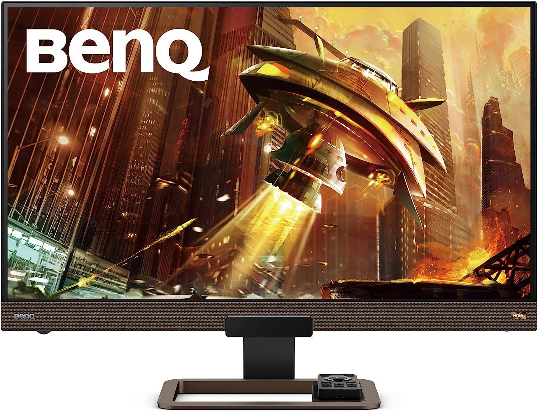 BenQ EX2780Q Gaming Monitor 144Hz 1440p 27 Inch IPSHDRiDCI-P32.1 Channel Speaker & 5 Watt Subwoofer Metallic Base