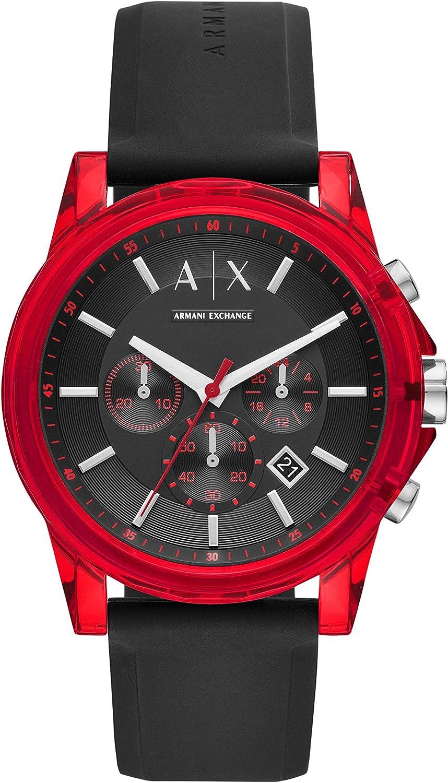 Armani Exchange Men s AX1338 Chronograph Quartz Black Red Watch