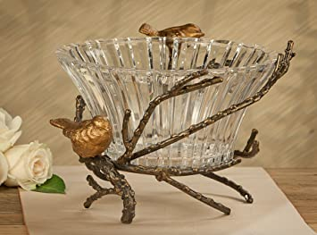 Bowls   U0026quot;Berkshire Gardensu0026quot; Centerpiece Bowl   Birds On Branch  Pedestal ...