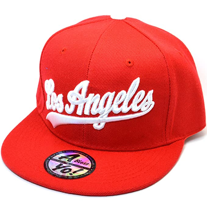 3e7a26551c3 Los Angeles 3D Old English Fitted Hats Closed Back Flat Bill Snapback Cap  AYO4308 (X
