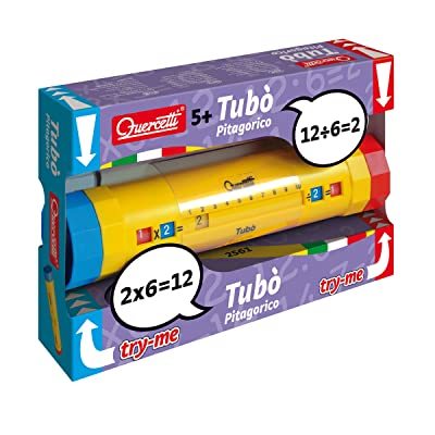 Quercetti - Tubo - Educational Tool for Learning Multiplication Tables, for Ages 5 Years +: Toys & Games
