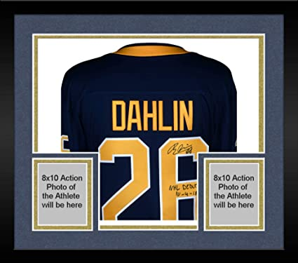 separation shoes 44f39 6a47e Framed Rasmus Dahlin Buffalo Sabres Autographed Navy ...
