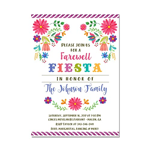 Amazon Com Mexican Fiesta Farewell Party Invitation Going
