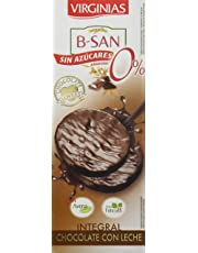 Virginias Galleta B-San Chocolate Con Leche Sin Azúcares - 120 g: Amazon.es: Amazon Pantry