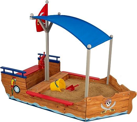 KidKraft- Arenero de madera para niños, diseño de galeón pirata, para jardín y exteriores , Color Multicolor (128): Amazon.es: Hogar