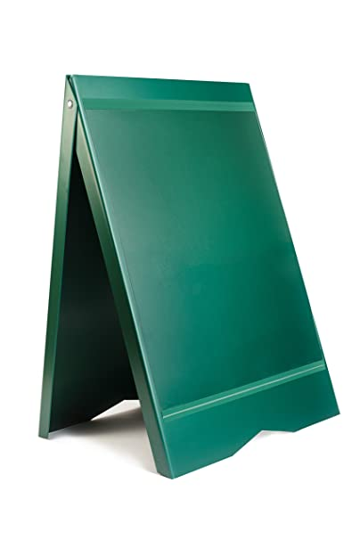 Cartel Acera Menu Sandwich Un signo bordo pavimento verde ...