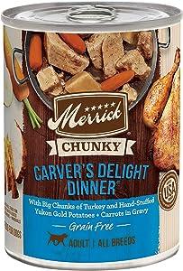 Merrick Chunky Grain Free Wet Dog Food Carvers Delight Dinner - (12) 12.7 oz. Cans