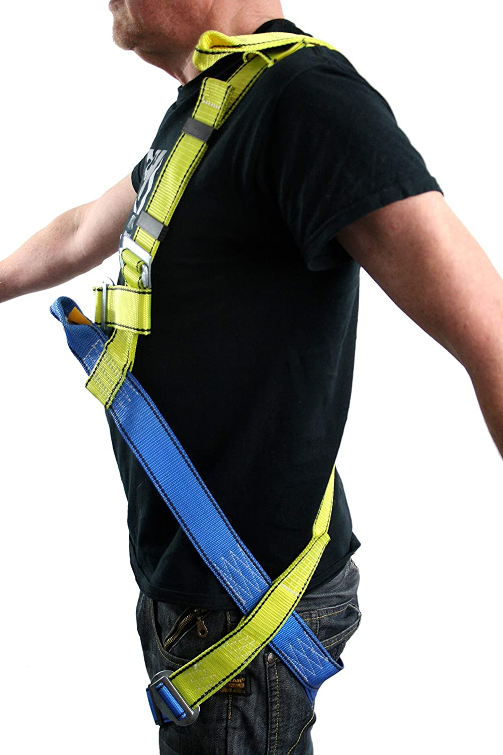 XXL G-Force 2 Point Full Body Height Safety Fall Arrest Protection Restraint Harness with Front /& Back Anchor Points