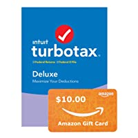 Deals on TurboTax Deluxe 2019 Tax Software PC Digital + $10 Gift Card