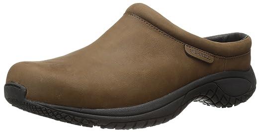 Merrell Men's Encore Slide Pro Grip Nubuck Slip-Resistant Work Shoe, Brown,  9