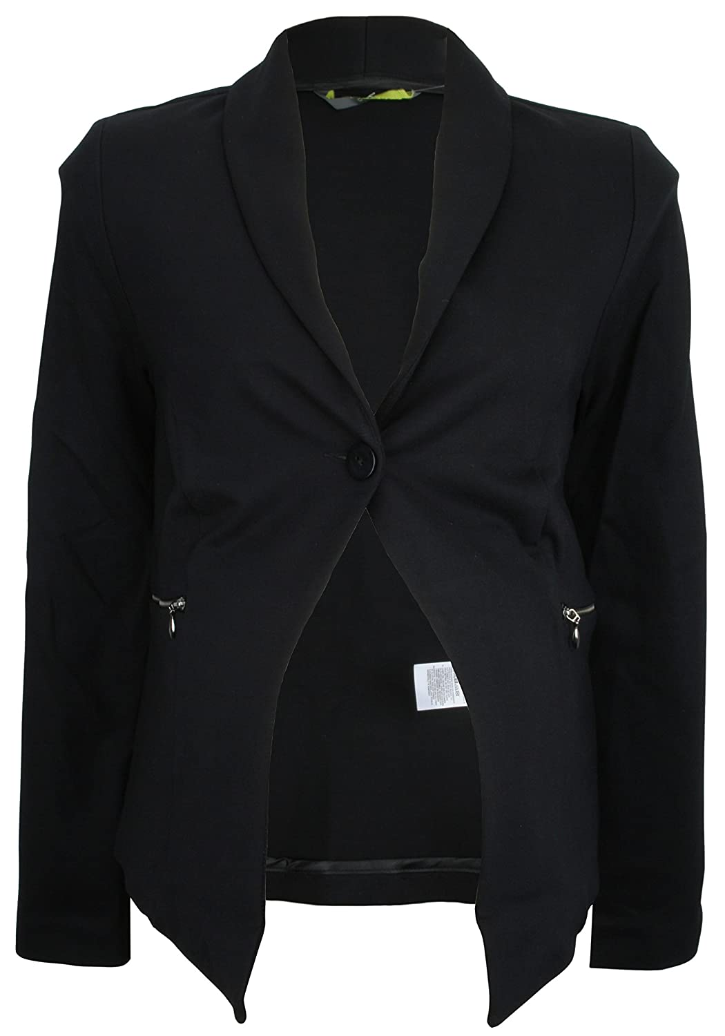 Ex-Store Maternity Stretch Jersey Tailored Jacket with Zip Pockets Black