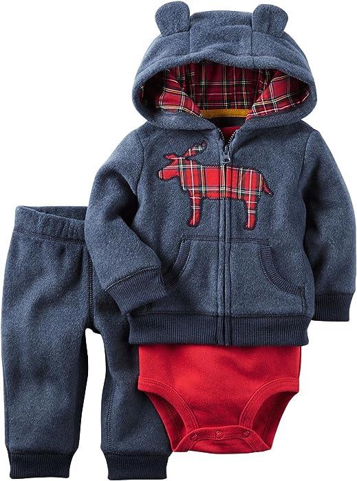 2fa22e8c4 Amazon.com: Carter's Baby Boys' Cardigan Sets 121h013, Navy Moose ...